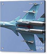 A Russian Air Force Su-34 In Flight Acrylic Print