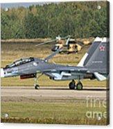 A Russian Navy Su-30sm Aircraft Acrylic Print