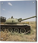 A Russian T-62 Main Battle Tank Rests Acrylic Print