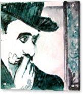A Sad Portrait of Chaplin Acrylic Print
