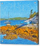 A Sailboat Near Halifax Nova Scotia Acrylic Print
