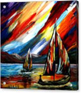 A Sailing Prism Acrylic Print