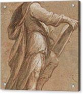 A Saint Holding A Book Acrylic Print