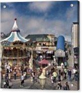 A Scene At The San Francisco Carousel Acrylic Print