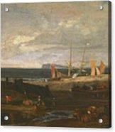 A Scene On The English Coast Acrylic Print