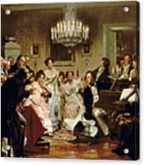 A Schubert Evening In A Vienna Salon Acrylic Print