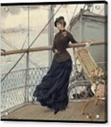 A Scottish Lady On A Boat Arriving In New York Henry Bacon Acrylic Print