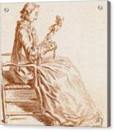 A Seated Woman Acrylic Print