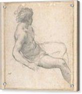 a Seated Youth for the Age of Gold , Pietro da Cortona Acrylic Print