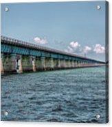 A Section Of The Original Seven Mile Bridge Acrylic Print