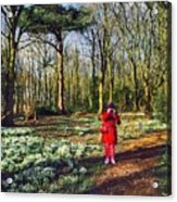 A Selfie In Snowdrop Wood Acrylic Print