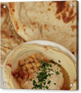 A Serving Of Humus Acrylic Print
