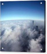 A Shadow Of The Sears Tower Slants Acrylic Print