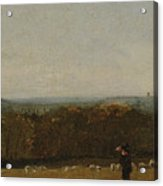 A Shepherd In A Landscape Acrylic Print