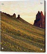A Shiprock Sunrise - New Mexico - Landscape Acrylic Print