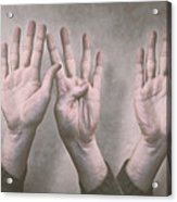 A Show Of Hands Day 197 Acrylic Print