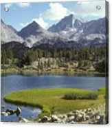 A Sierra Mountain Lake In Summer Acrylic Print