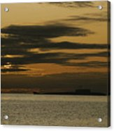 A Silhouetted Russian Submarine Acrylic Print by James P. Blair
