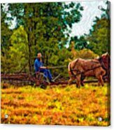 A Simpler Time Impasto Acrylic Print