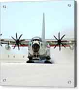 A Ski-equipped Lc-130 Hercules Acrylic Print by Stocktrek Images