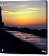 A Sliver Of Sunset Acrylic Print