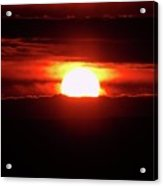 A Slow Red Sunset  Acrylic Print