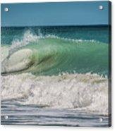 A Small Tube Wave In Atlantic Ocean Acrylic Print