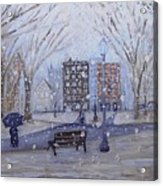 A Snowy Afternoon In The Park Acrylic Print