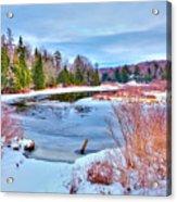 A Snowy Moose River Acrylic Print
