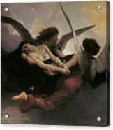 A Soul Brought To Heaven Acrylic Print by Adolphe William Bouguereau