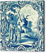 A South-german Faience Stove Tile Second Half 18th Century, By Adam Asar, No 18a Acrylic Print