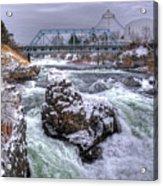 A Spokane Falls Winter Acrylic Print
