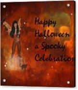 A Spooky, Space Halloween Card Acrylic Print