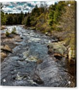A Spring Day At Little Woodhull Creek Acrylic Print