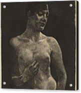 A Standing Nude Acrylic Print