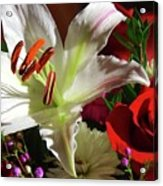 A Star Lily With  A Rose Acrylic Print