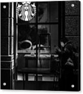 A Starbucks Respite In Downtown San Jose Acrylic Print