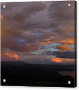 A Storm At Sunset Acrylic Print