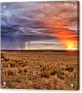 A Stormy New Mexico Sunset - Storm - Landscape Acrylic Print