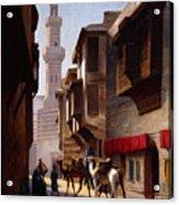 A Street In Cairo Acrylic Print