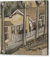 A Street In California Acrylic Print