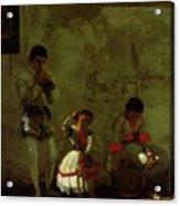 A Street Scene In Sevilla 1870 Acrylic Print
