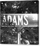 Ad - A Street Sign Named Adams Acrylic Print