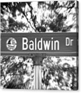 Ba - A Street Sign Named Baldwin Acrylic Print