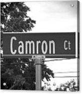 Ca - A Street Sign Named Camron Acrylic Print