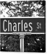 Ch - A Street Sign Named Charles Acrylic Print