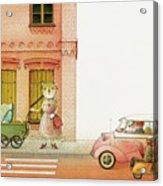 A Striped Story02 Acrylic Print