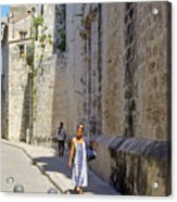A Stroll By The Cathedral Acrylic Print