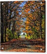 A Stroll Through Autumn Colors Acrylic Print