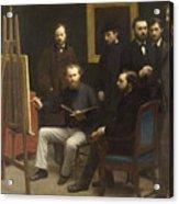 A Studio At Les Batignolles 1870 Acrylic Print